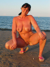 Wife On A Beach