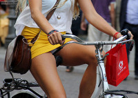 bicycle upskirt blogs