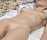 Nude Wife On A Beach