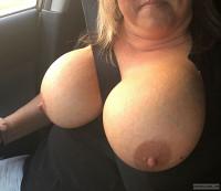 Big Tits,sexy wife,nipples,tits out,Milf,seatbelt