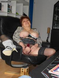 Stockings,High heels,MILF,Shaven pussy,Big tits
