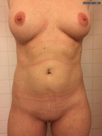 Nude wife,big tits,shaved pussy,shower