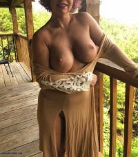 redhead,milf,cougar,big tits,outdoors,flashing
