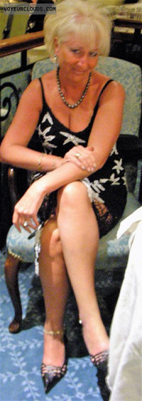 Long Legs Milf Dress High Heels Sexy Wife Blonde