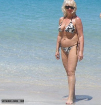 Bikini Beach Big Titts Long Legs Blonde
