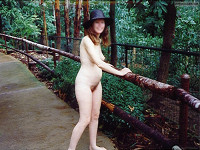 Exhibitionist,Nude in Public,Nude Wife,Nude Milf,Bare Breasts. Nipple,Bare Pussy,Hairy Pussy,Bare Ass,Bare Legs,Bare Feet,Smile,Hat,Zoo,Vintage,Plzdntchgmytags