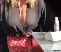 Sheer lingerie,  big boobs,  huge tits,  wife's tits,  sheer tit flash