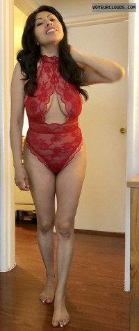 Me In My Red Lingerie