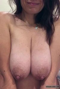 jilf tits,cleavage,saggers,big nips,horny wife,fucking a lot of guys,slut
