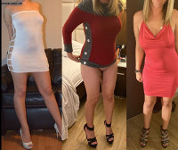 Sexy outfits,big decision,my pussy is out,tell me