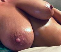 sauna boobs,hard nips,glazed tits,steamy milf,join me