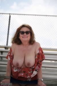 Big tits,sexy smile,public
