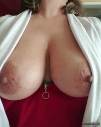 big tits,nipples,milf,wife,open blouse,cleavage