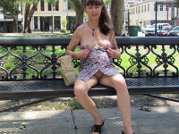public nudity,smooth pussy,great legs,nice tits,hard nipples,public flash,pretty face,lovely long hair,commando,sexy view