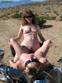 Exhibitionist,Lifestyle,Nude in Public,Nude Wife,Nude Milf,Girlfriends,Girl-Girl,Bisexual,Lesbian,Bare Breasts,Nipples,Pokies,Pierced Nipples,Bare Ass,Bare Pussy,Shaved Pussy,Labia majora,Labia minora,Clitoris,Bare Legs,Desert,Mountains,Outdoors,Sunshine,Roadside,Motorcycle,Boots,Sunglasses,Smile,High Resolution,Plzdntchgmytags