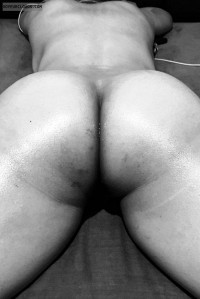 Bum,Bubble butt,naked wife,nude,ass,crack,oiled naked wife,massage