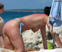 Blue Bikini Thong