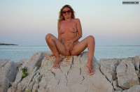 Nude Milf On A Beach