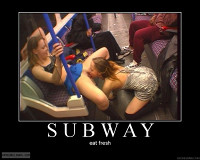 A Whole New Meaning To The Subway Add Girl On Girl Hotties