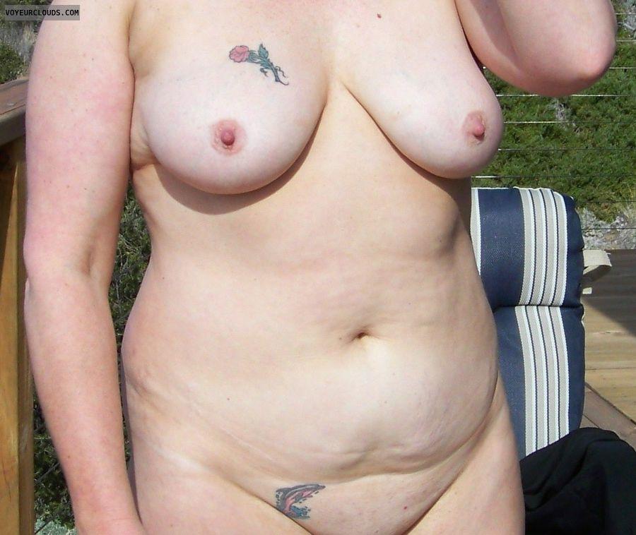 wife tits, mature, tattoo, milf tits, mature milf