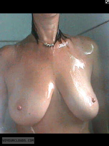 tits, nipples, shower, wet
