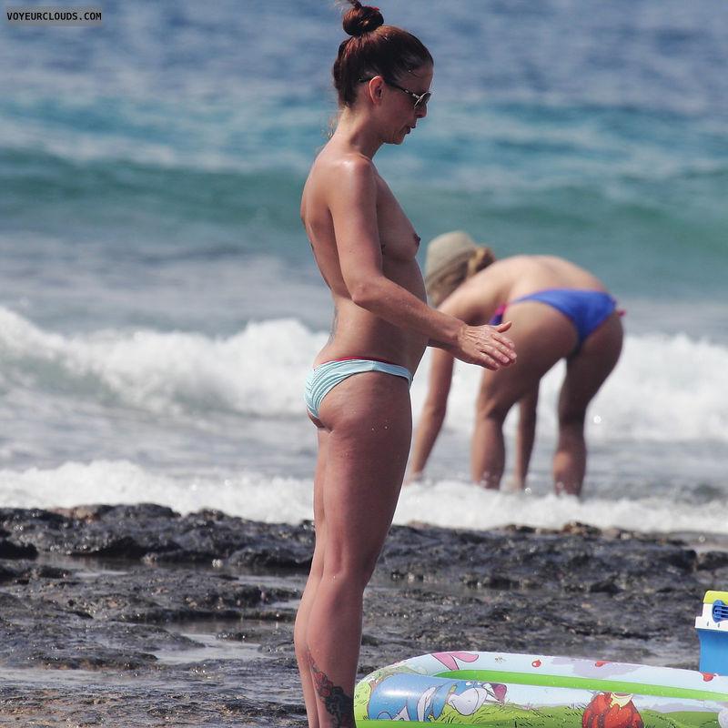 topless milf, beach voyeur, topless, MILF, voyeur