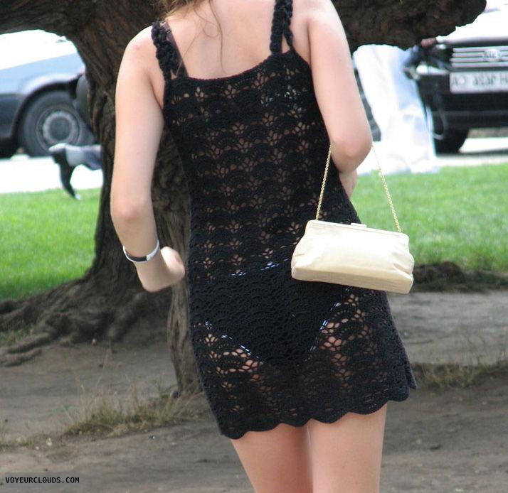 street voyeur, seethrough, candid woman, panty visible
