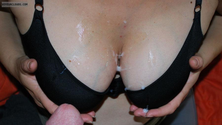 Cum On Tits Black Bra 81