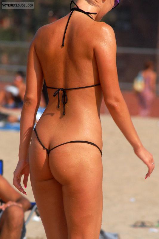 beach String voyeur bikini