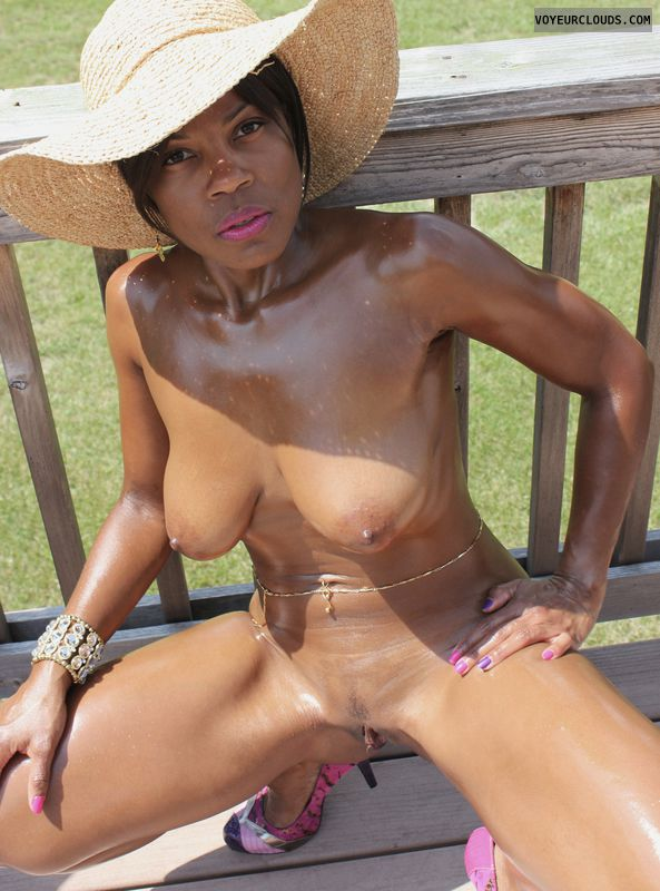 Ebony huge tits interracial