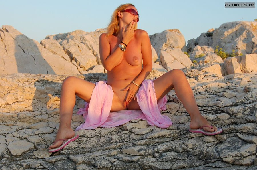 Milf on the beach pussy love those