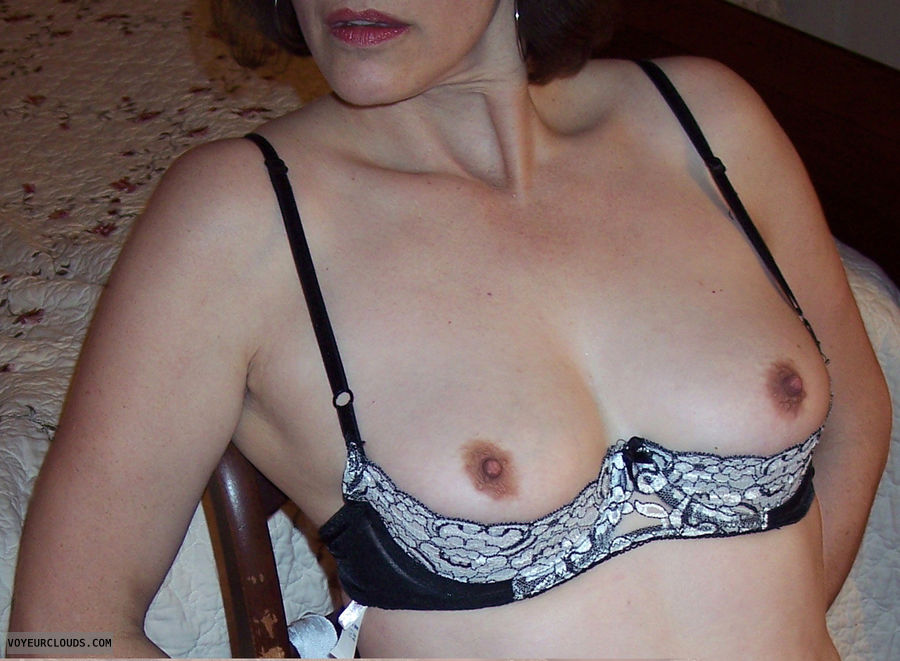 Wife tits bra