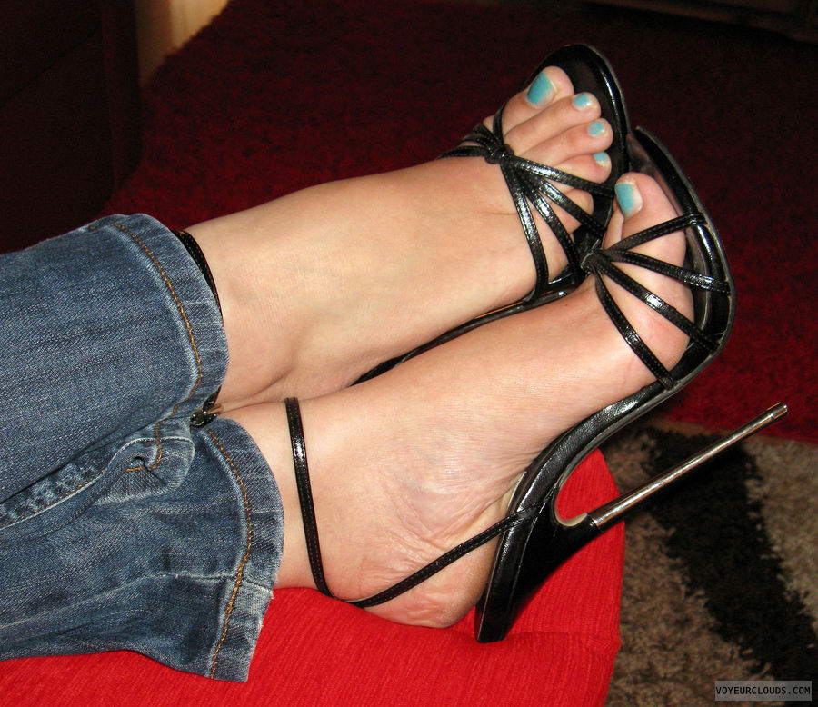 Galleries strappy pantyhose heels high and