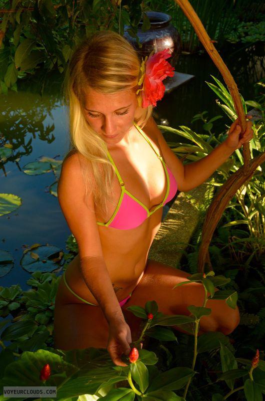 blonde, beauty, young, holidays, bikini