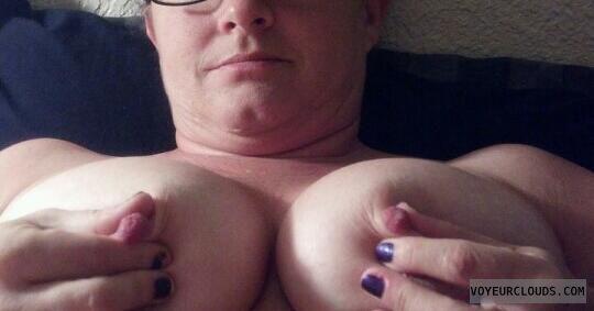 wife tits, wife nipples, pinching nipples, big tits