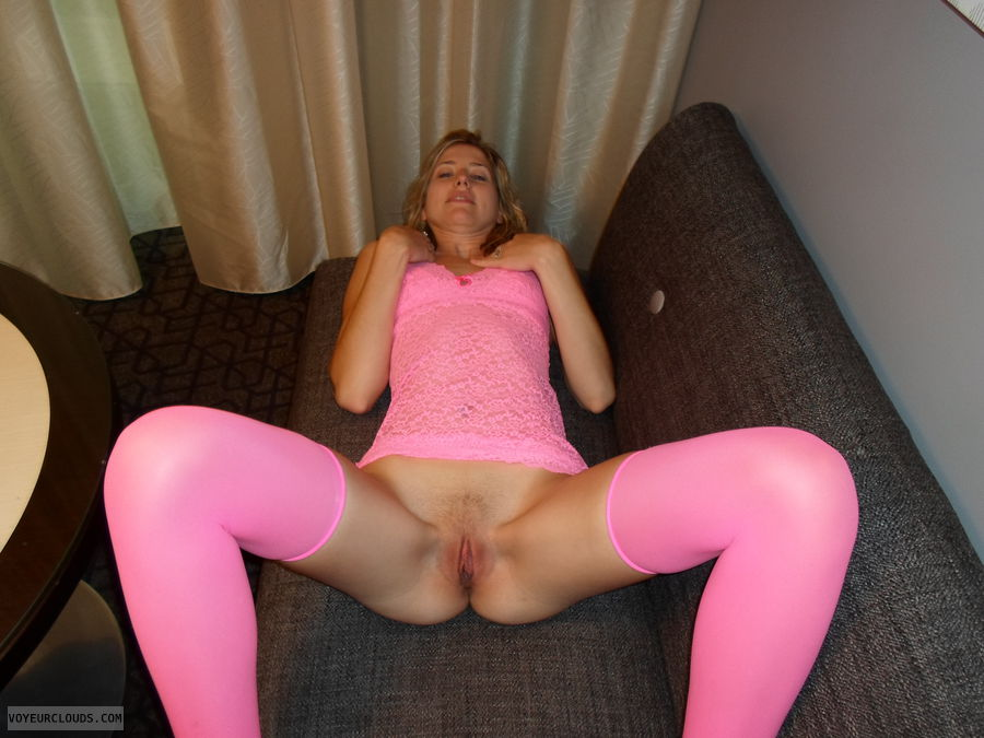 wife pussy, courtney, pink, blonde, pink stockings