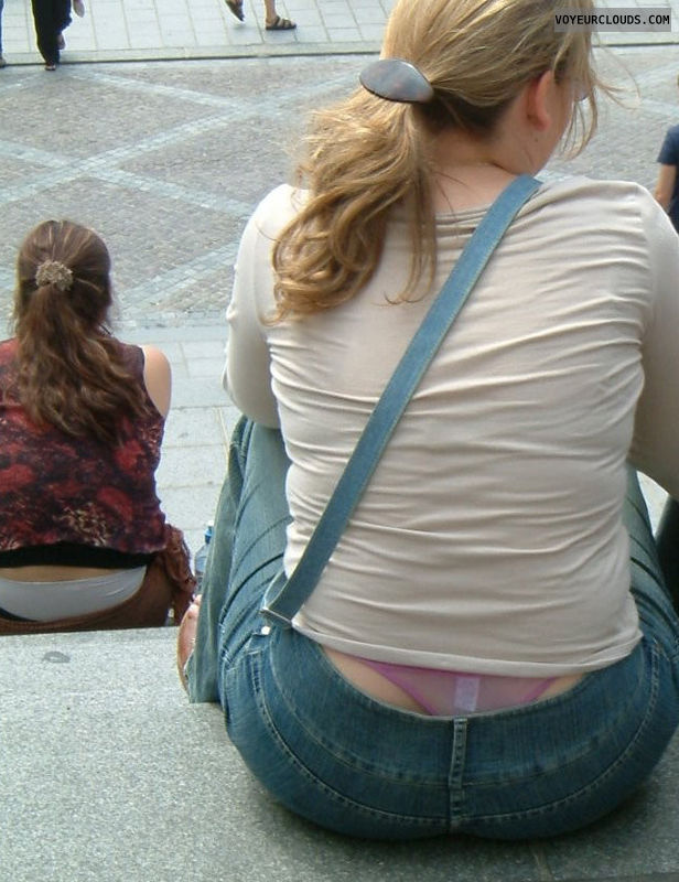 whaletail voyeur, street voyeur, whaletail, exposed thong