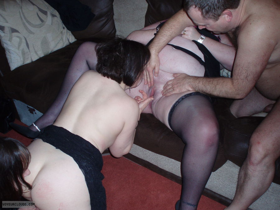 Wife Stockings Threesome