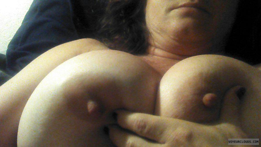 wife tits, big tits, squeezing tits, sexting