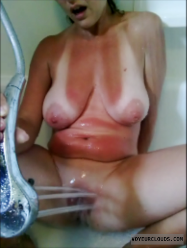 Saggy tits wife masturbation