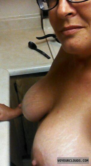 wife tits, wife nipples, big tits, erect nipples, sexting