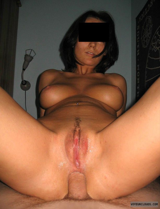amateur sex, cowgirl, anal sex, open pussy, landing strip
