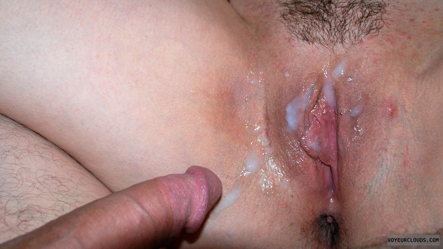 after sex Cum in pussy