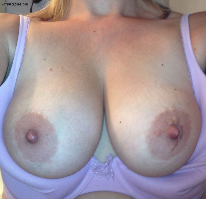 wife tits, wife nipples, blonde milf, hard nipples
