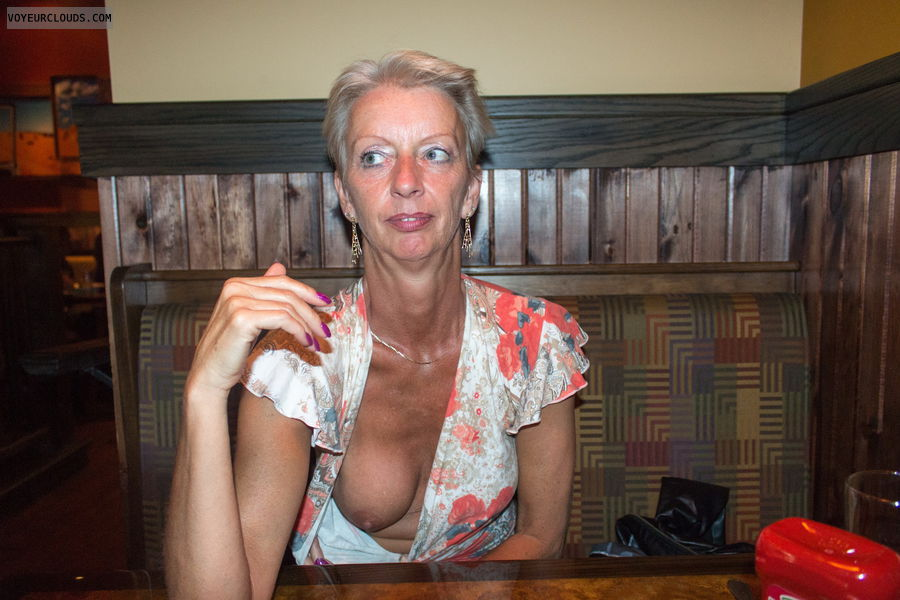 My Wife Seduces Strangers In A Public Resturant - free