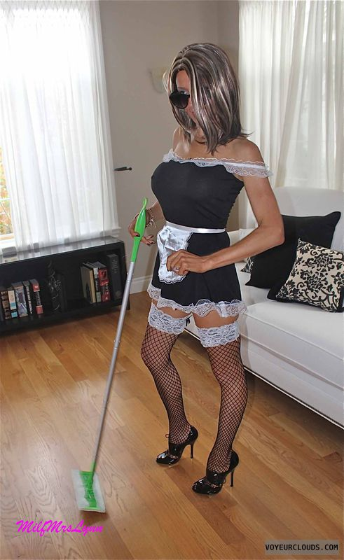 wife tits, french maid, big tits, milf mrs lynn, sexy