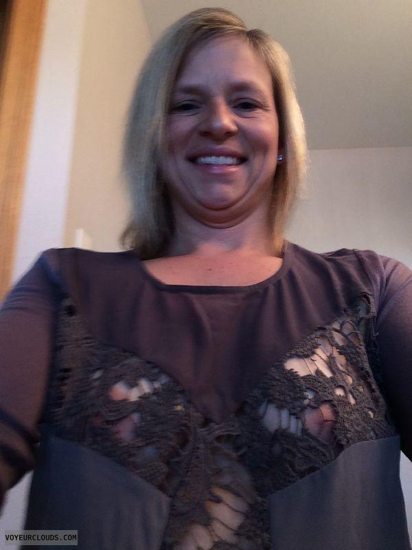 wife tits, wife nipples, blonde milf, sneak peek, nips