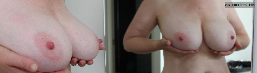milf tits, milf nipples, big tits, jessie, mirror