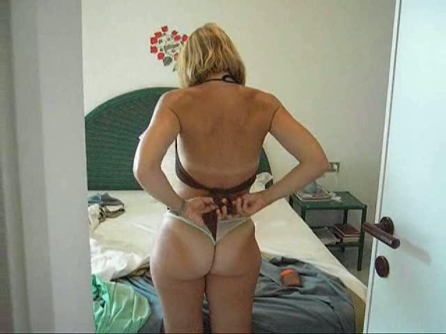 Big tits changing in swimming pool locker room - 3 part 5