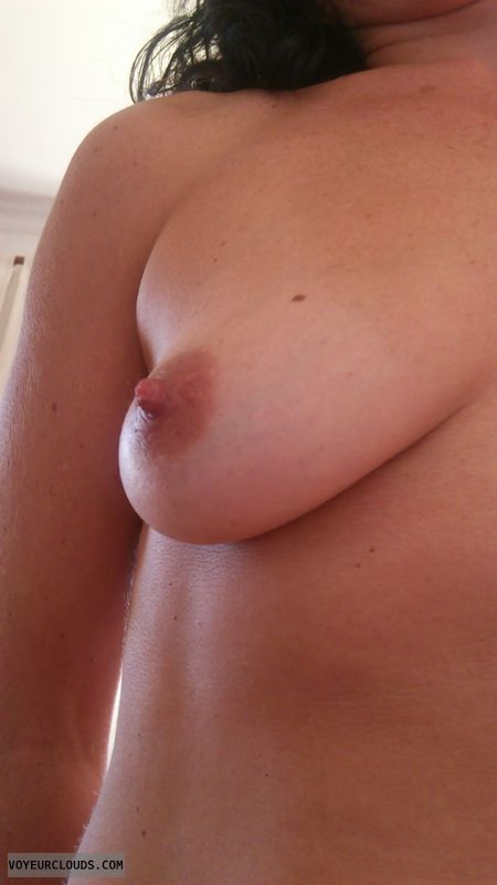 wife nipples, tit, brunette, wife nipple